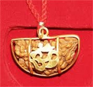 Picture of Ek Mukhi Rudraksha with Gold Pendent & Red Thread