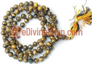 Picture of Tiger Eye Mala For Confidence, Courage and Inner Strength