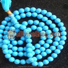 Picture of Natural Turquoise (Firoza) Mala For Positive Vibrations, Intuition and Wisdom