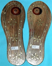 Picture of Sri Charan Paduka With Brass Inlay For Pujaa and Temple use