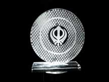 Picture of Khanda Round Plaque
