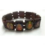 Picture of Stretch Bracelet Hindu Gods and Goddess Yoga Wooden Stretchy Bracelets Fits