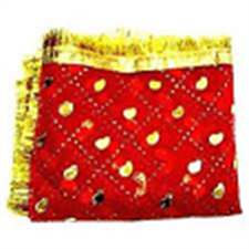 Picture of Red Small Size Chunari (Veil) Used for Religious Gatherings