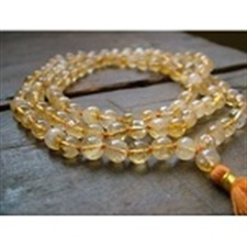 Picture of Natural Citrine Mala Necklace 108+1 Beads Hinduisnism 7mm Meditation Subha Rosary Puja Prayer Raiki Yoga