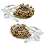 Picture of Kathak Ghungroo pair, Ankle bells on string, 50 brass bells in each string