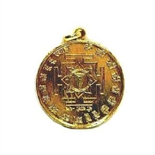 Picture of  24 K Gold Plated Shree Mahalaxmi Yantra Religious Pendant