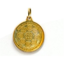 Picture of 24 K. Gold Plated Shree Navgrah Yantra Pendant