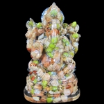 Picture of 9 Grain Ganesha Statue - Ganesha Idol Made Using Navgraha Grains, Pulses 3 Inch