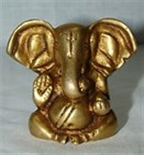 Picture of LORD GANESH HINDU GOD LOVELY MINI BRASS STATUE REMOVE OBSTACLES FROM INDIA