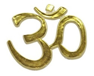Picture of Gold Om Embossed Sticker