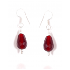 Picture of Ethnic Red Drop Stone Earring SE32