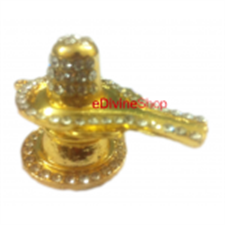 Picture of Gold Plated Hindu God Idol of Shiv