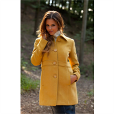 Picture of Ladies Wool Coat Gold