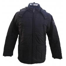 Picture of Mens Jacket Dotted Nylon with Sherpa 30ich long