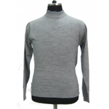 Picture of Mens T Neck Basic Sweater Grey