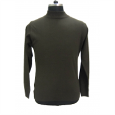 Picture of Mens T Neck Basic Sweater Olive