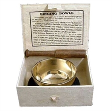 Picture of Fair Trade Medium Sized Tibetan Singing Bowl Boxed Set 8.5 cm