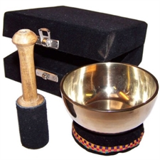 Picture of Brass Singing Bowl - Gift Set - Approx 9cm