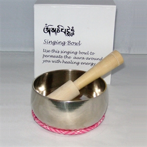 Picture of Buddhism singing bowl 9cm with striker and bowl mat.Storage Box